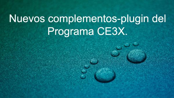 plugin programa ce3x Nuevos plugins   complementos programa CE3X