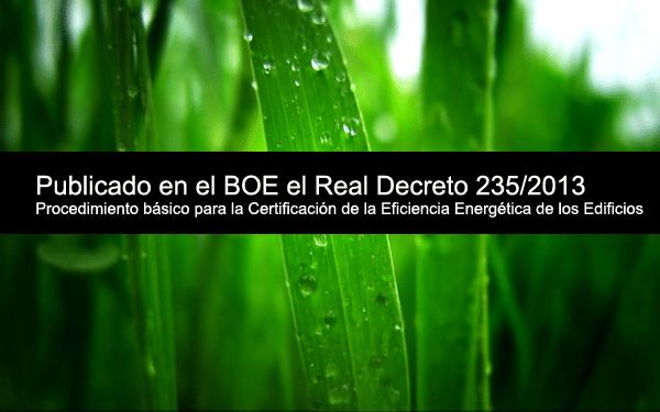 real decreto 235-2013 certificado energetico