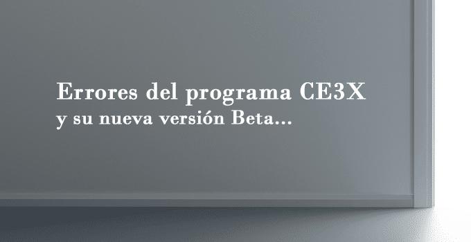 errores programa ce3x