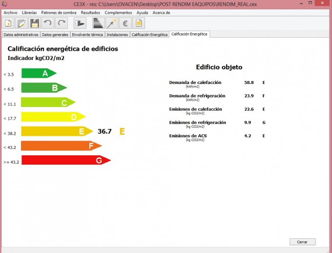 calificacion energetica segun equipo climatizacion