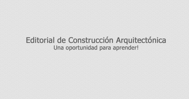 editorial de construccion arquitectonica