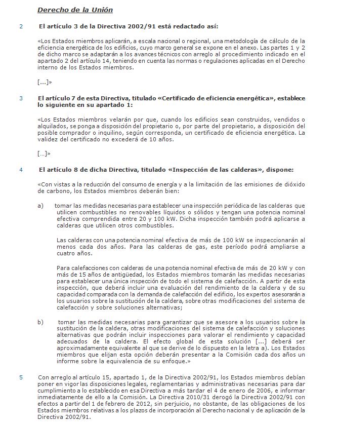 derecho europea eficiencia energetica