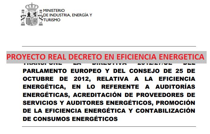 proyecto rd eficiencia energetica