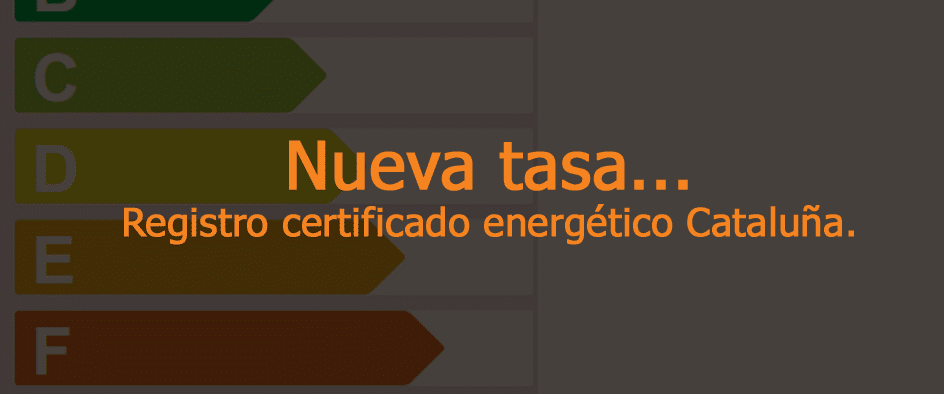 tasa registrar certificado cataluna