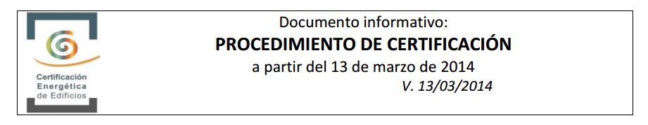 procedimiento certificacion para 2014