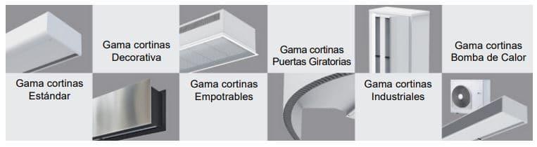 tipos instalaciones cortinas aire