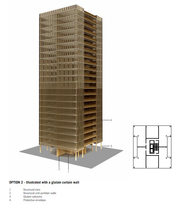 rascacielos construidos madera