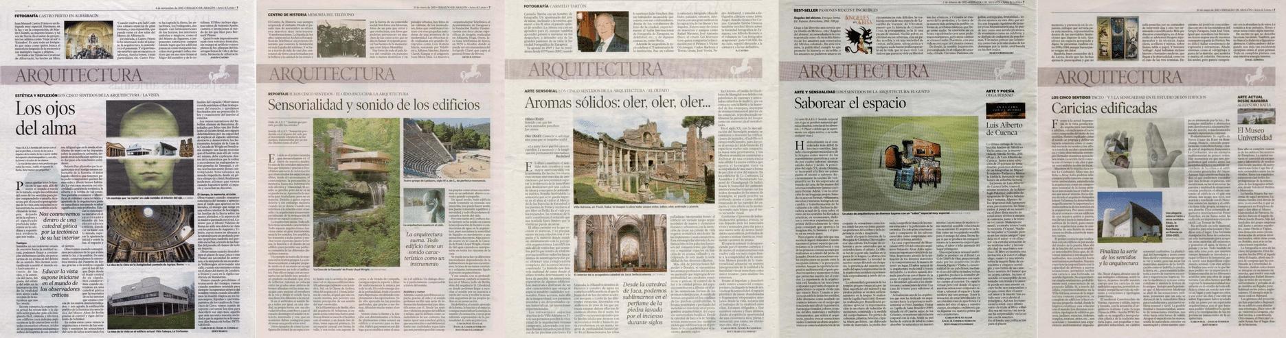 cinco sentidos de la arquitectura