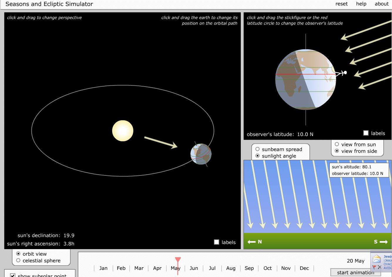 trayectoria del sol asoleamiento