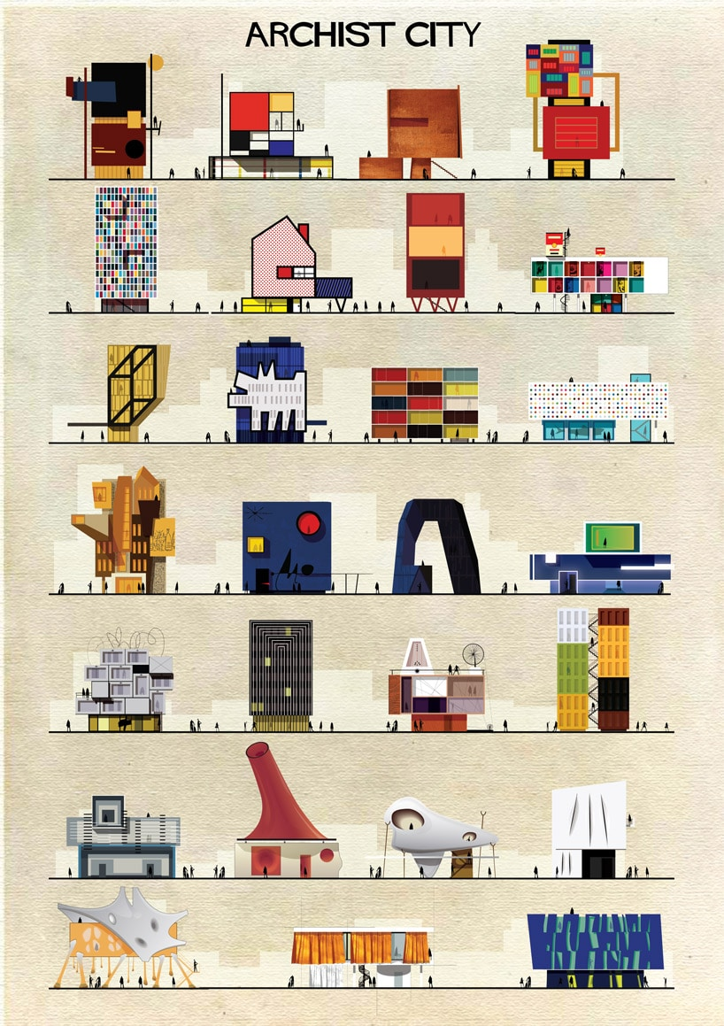artista que redibuja la arquitectura