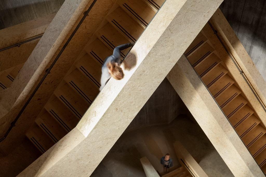 escalera en punto de vigilancia Arquitectura. Las escaleras que nunca construiré
