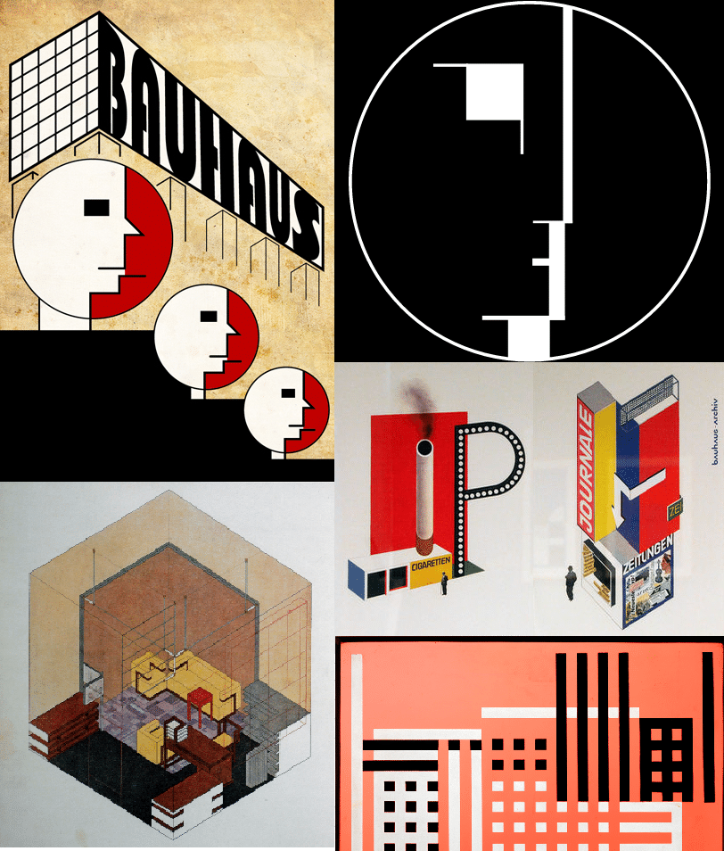 ilustraciones arquitectura bauhaus