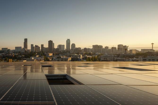 cubierta solar para oficinas