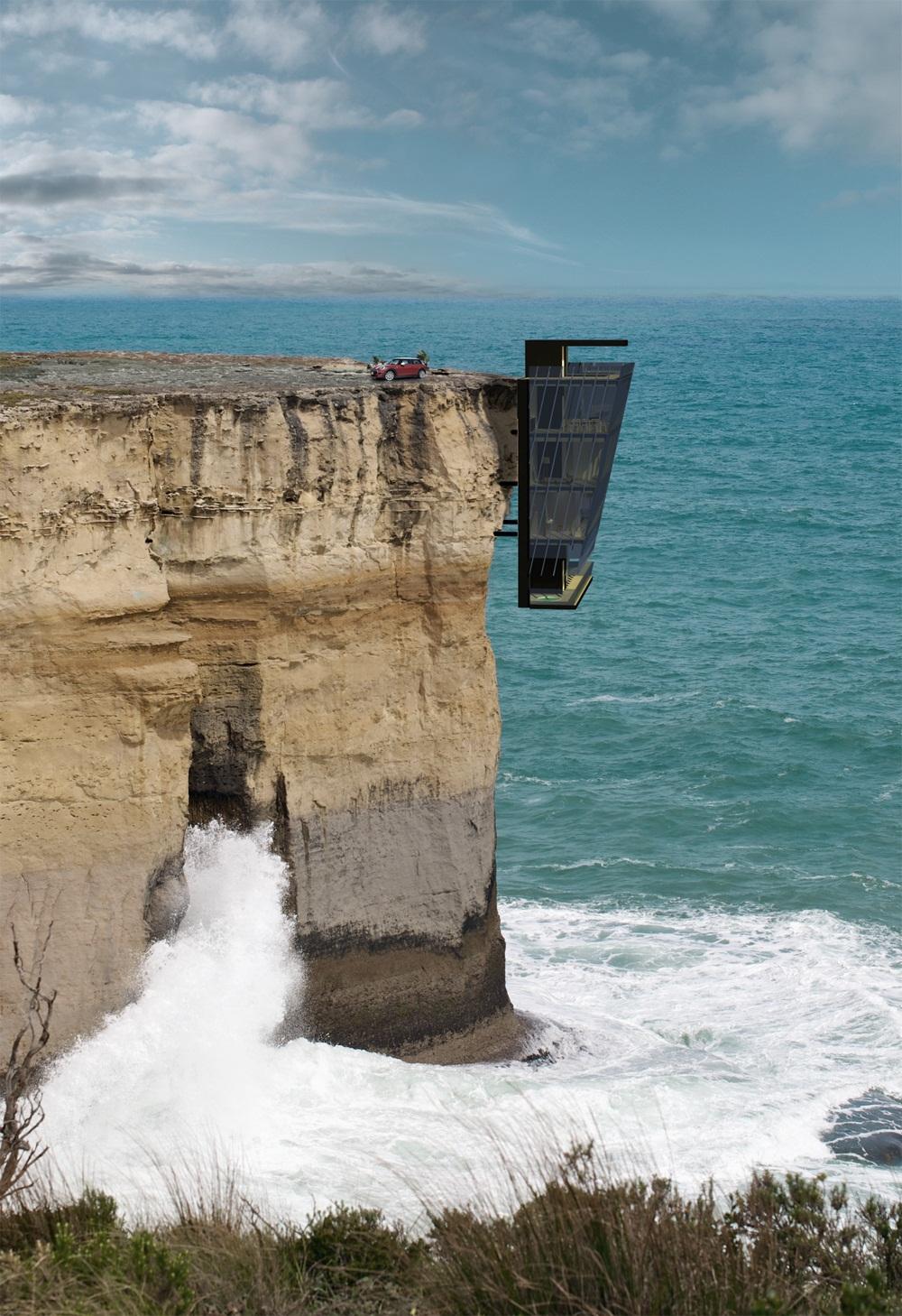 arquitectura extrema casa acantilado