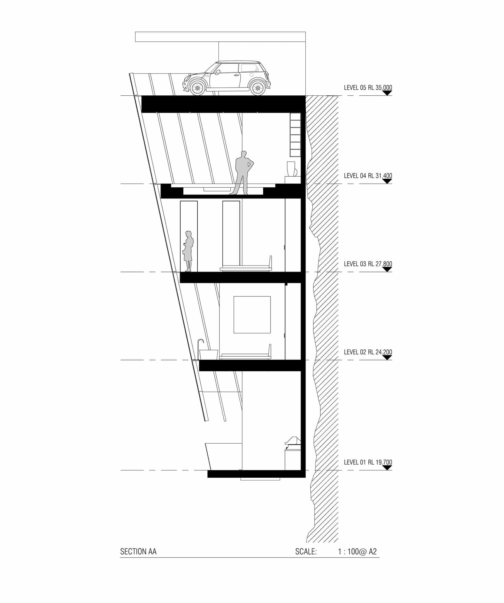construccion modulos en un acantilado
