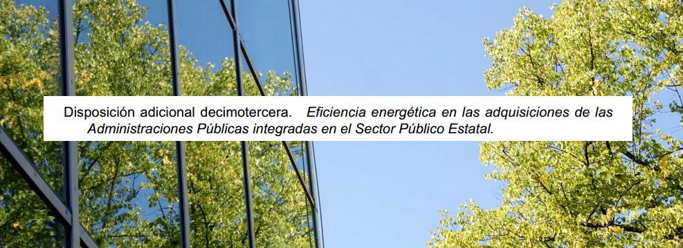 eficiencia energetica edificios administarciones publicas