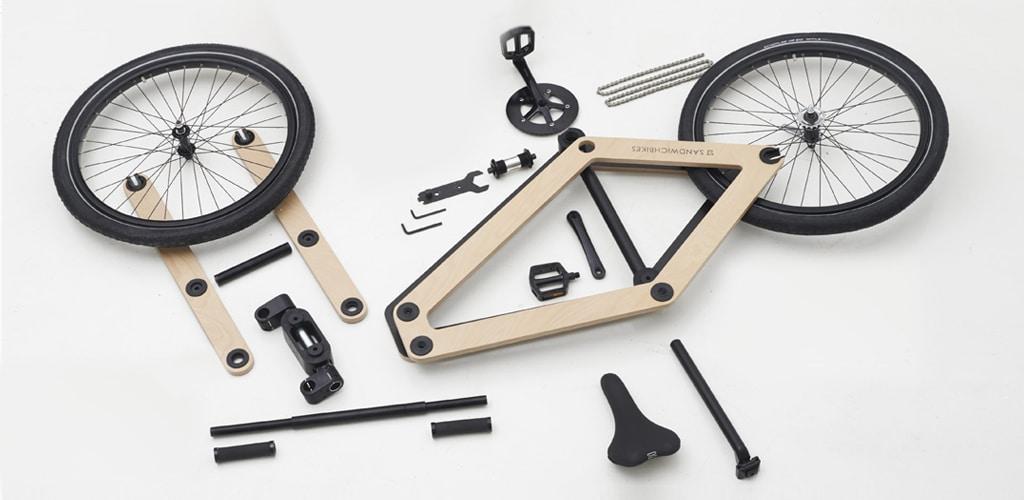 bicicleta madera montable