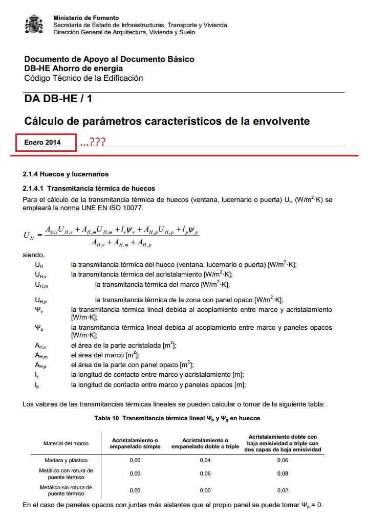 envolvente da db-he-1 codigo tecnico