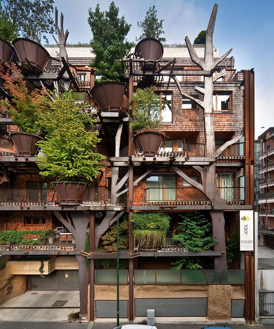Arquitectura verde un ejemplo del edificio m s verde - Immeuble vegetal ...