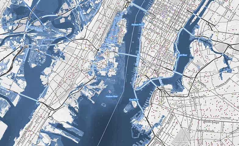 mapa mundial inundaciones