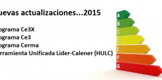 nuevas versiones programas certificacion 2015