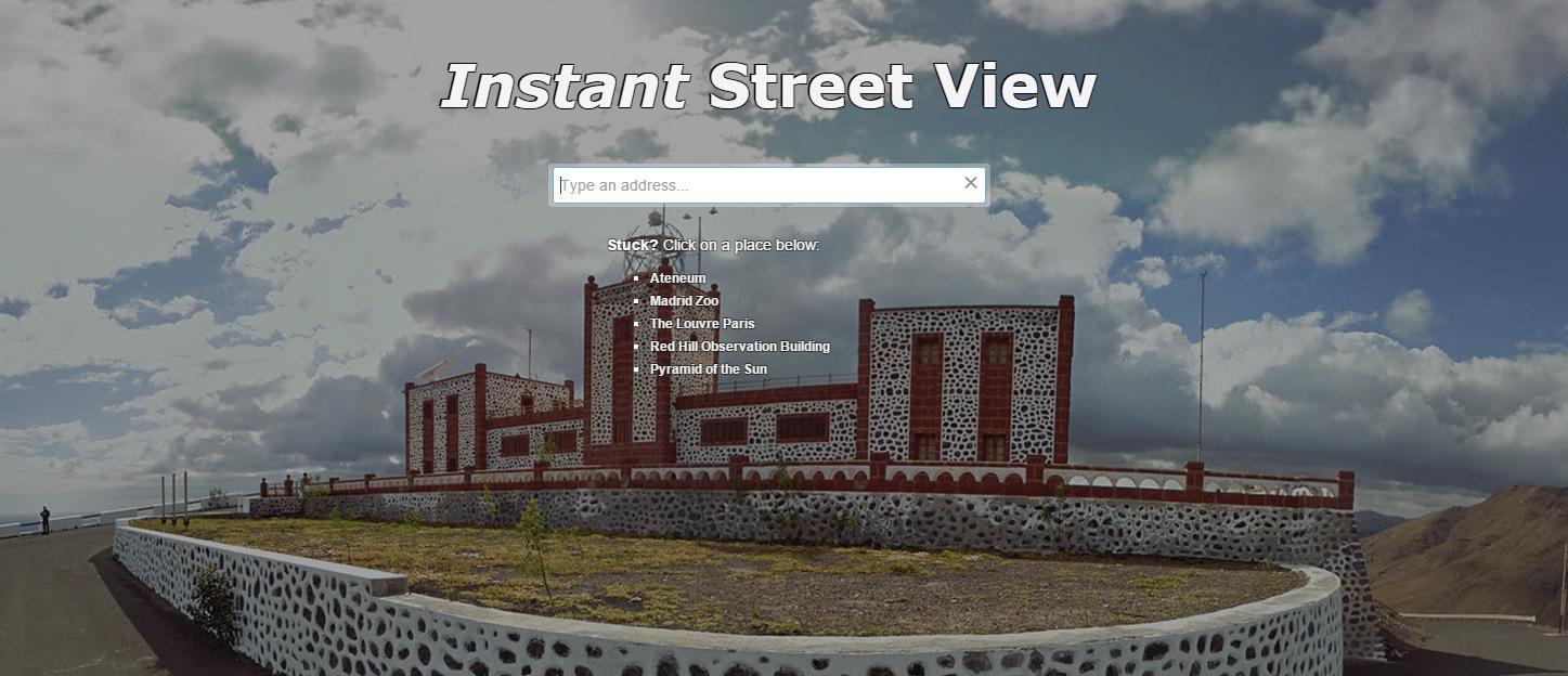 instant street view para mapas