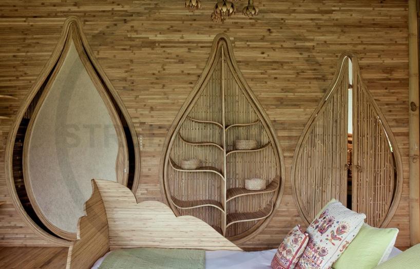 interiorismo con bambu