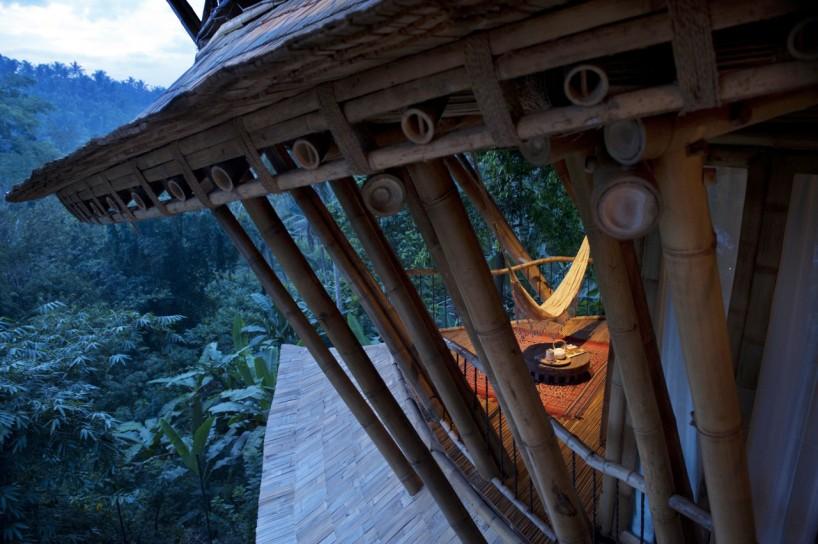 vivienda construida bambu
