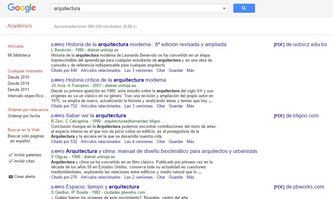 Google académico y los libros gratis
