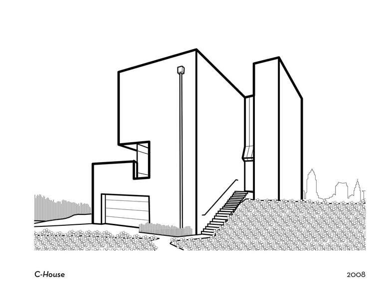 Dibujos para colorear arquitectura y algo m s for Fachadas de casas modernas para colorear