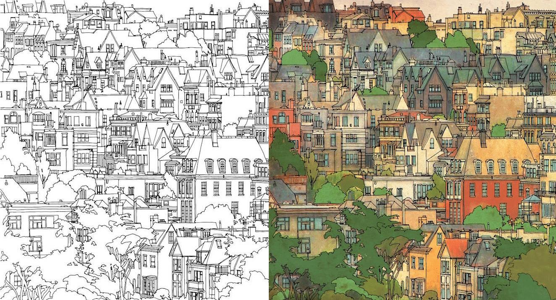Dibujos para colorear arquitectura y algo más