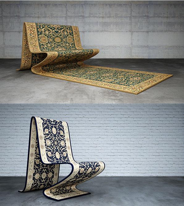 silla y sofa alfombra