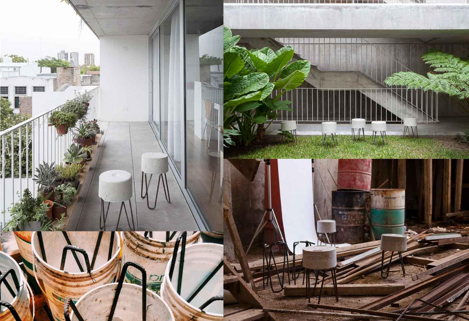 cemento en muebles