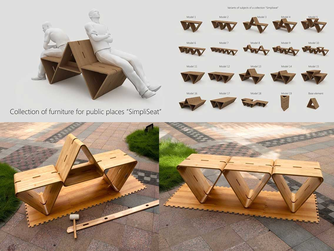 15 ejemplos de mobiliario urbano e industrial que asombran for Muebles de diseno industrial