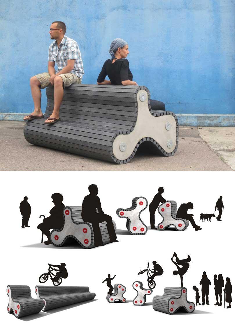 15 ejemplos de mobiliario urbano e industrial que asombran for Ejemplos de mobiliario urbano