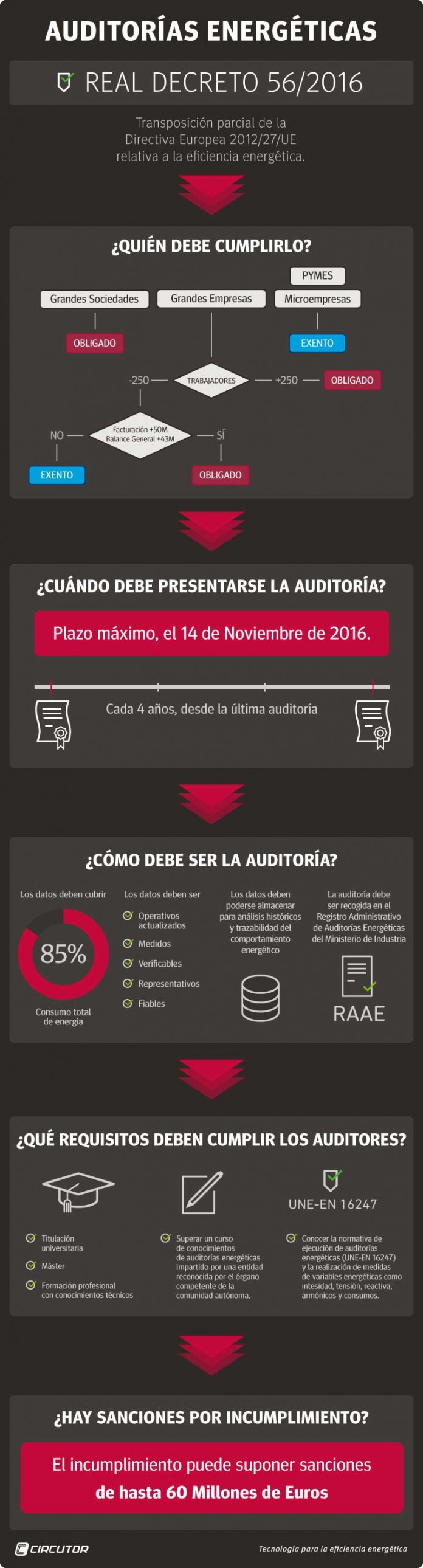 infografía para el técnico auditor