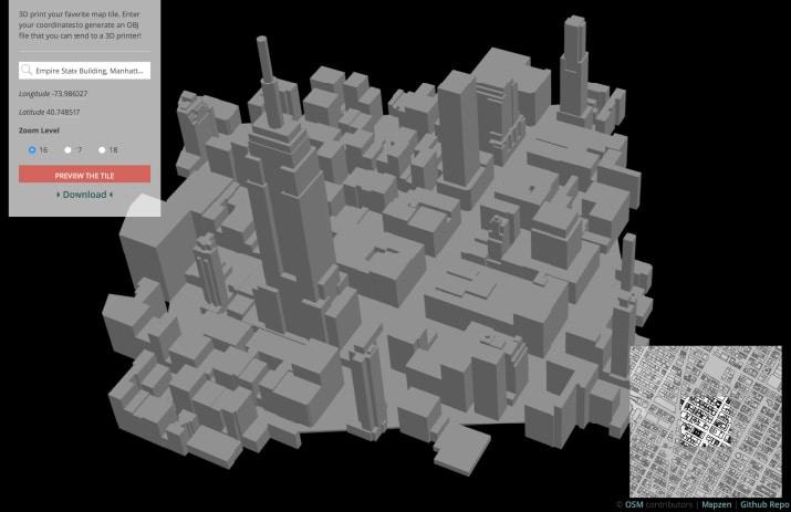 topografia urbana ciudad