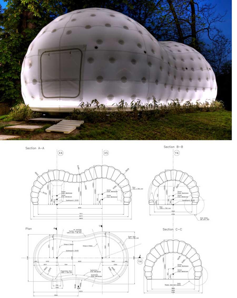 diseño casa inflable