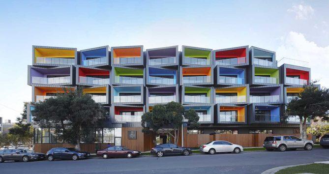fachadas de color
