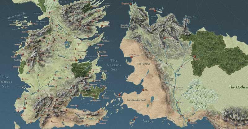 mapa interactivo juego tronos
