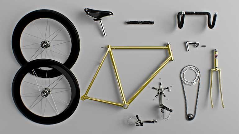 tipografia con bicicletas