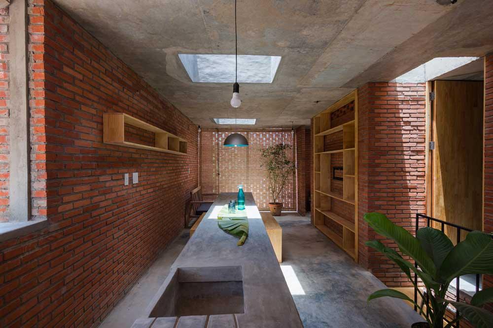 El ladrillo de arcilla en la arquitectura moderna ovacen for Casas modernas ladrillo
