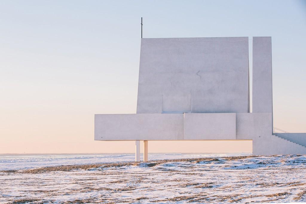 edificio religioso minimalista
