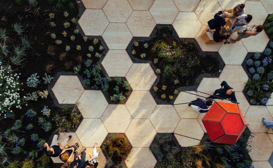 ejemplo jardin urbano