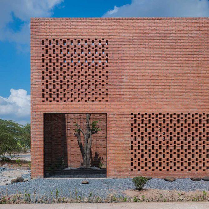 fachada de ladrillos caravista