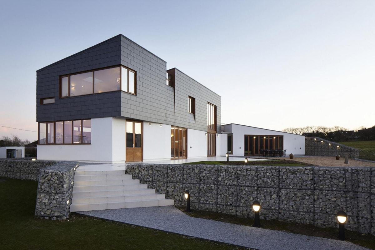 La piedra pizarra en la arquitectura moderna ovacen for Piedra natural pizarra