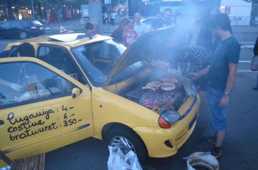 coche barbacoa