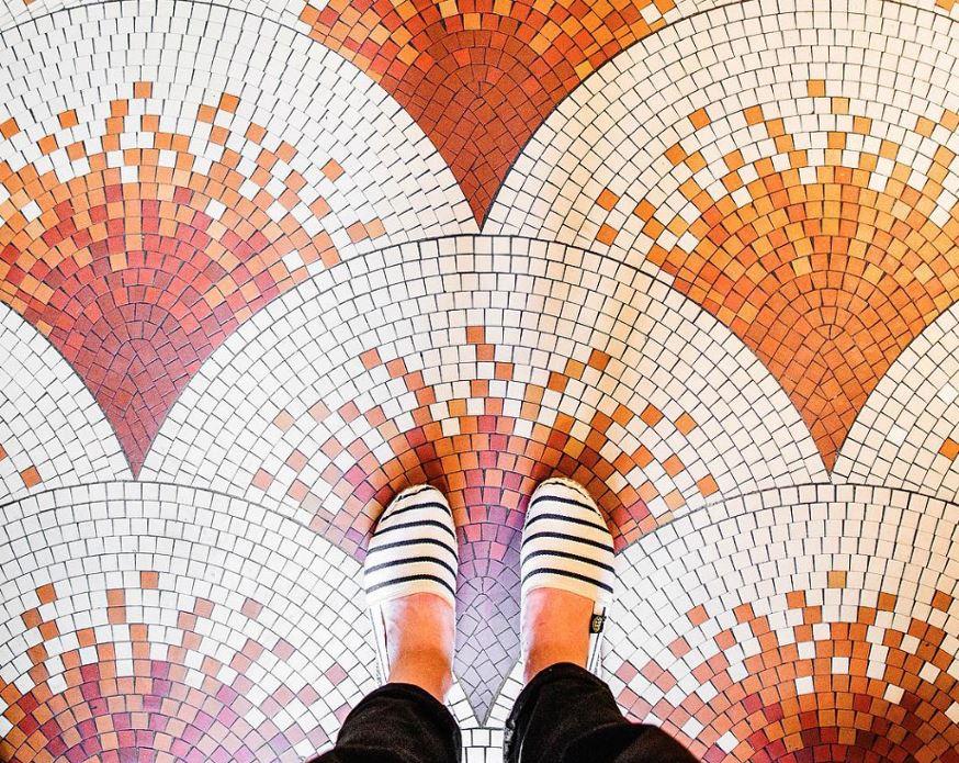 101 suelos de mosaicos y baldosas hidr ulicas ovacen - Pintura para suelos de gres ...