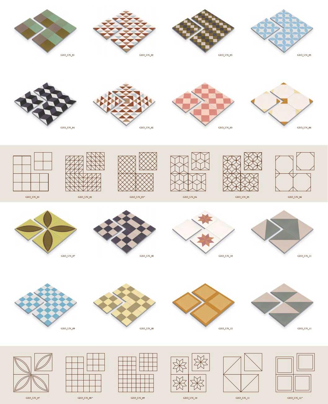 piezas mosaico