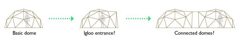 como unir varios domos
